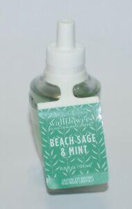 1 BATH & BODY WORKS BEACH SAGE MINT WALLFLOWER REFILL BULB PLUG IN SCENT GREEN
