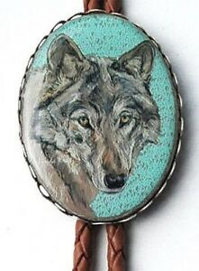Wolf Classic Western Bolo Tie