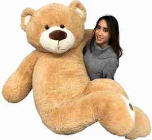 Big Plush Giant 6 Foot Teddy Bear 72 inches Tan Color Soft Smiling Big Teddybear