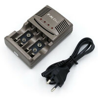 Chargeur Rapide 4 Fente Intelligent Batterie Chargeur Pour Aa / AAA 9V Nicd Nimh