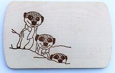 Frühstücksbrettchen Frühstücksbrett Gravur Erdmännchen Vesper Holz Namen Brett