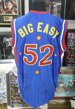 Harlem Globetrotters Multi SIGNED AUTOGRAPHS Big Easy Basketball Jersey AFTAL