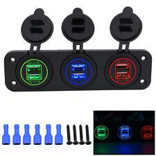12V/24V Car Cigarette Lighter Socket Splitter Dual USB Power Adapter Charger