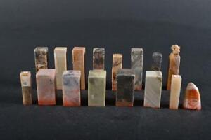 #1428: Japanese Stone jade/jewels Chop stamp material SEALS Bundle sale