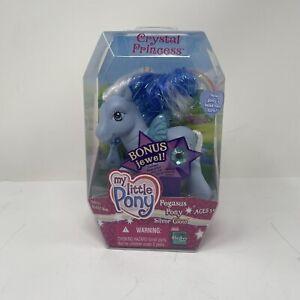My Little Pony G3 Hasbro 2005 Crystal Princess Pegasus Pony Silver Glow