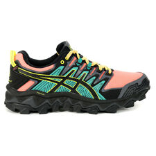 ASICS Women's Gel-Fujitrabuco 7 Black/Sun Coral Trail Shoes 1012A180.700 NEW