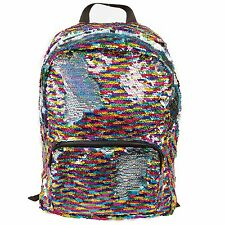 Magic Sequin! Reversible Sequin Rainbow to Silver Fashion Backpack