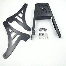 Black Backrest Sissy Bar With Leather Pad For Harley Davidson Sportster 883 1200