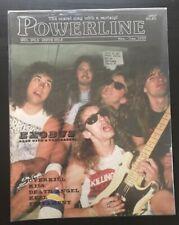 POWERLINE MAGAZINE - EXODUS - KISS - OVERKILL - DEATH ANGEL - TESTAMENT Nov 1987