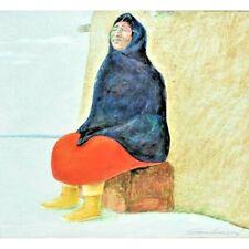 Original Acrylic Painting by Latino CA Artist Guillermo Acevedo (1920-1988)