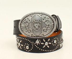 Ariat Girls Western Belt Style A1302001 Black Size 22