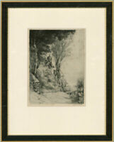 W. Bennett - Late 19th Century Etching, Percy Shelley's Cottage