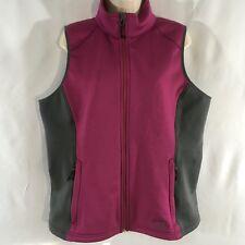 L.L. Bean Women's Plum Gray Fleece Lined Sleeveless Zippered Vest Sz XL