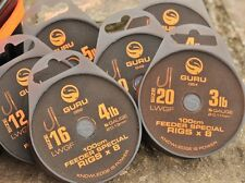 GURU LWGF FEEDER SPECIAL RIGS x 8pcs x 1mtr SIZE 16 FOR MATCH / COARSE FISHING