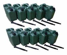 10 x 10 Liter Dieselkanister Benzinkanister UN-Zulassung olivgrün Ausgießer NEU