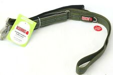 Kong Padded Handle Traffic Leash Green 4 ft L X 1.0 In W  (1.2 M x 2.5 cm)