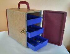 Vintage Baja Barnett & Jaffe 3 Drawer Slide Hard Case Harringbone Pattern