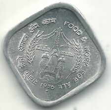 HIGH GRADE UNC 1976 B INDIA 5 PAISE COIN-MAY478