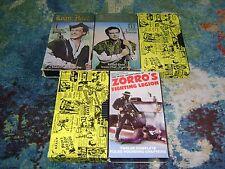 VINTAGE Serial Adventures 5 VHS LOT Robin Hood ZORRO Perils Of Pauline RARE
