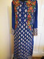 Women Fashion Casual Pakistani Indian Kurti Kurta Top Shirt Dress Floral Print.