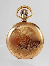 Elgin Pocket Watch 7j 18s C.1880 Hunter Finely Engraved Dueber w/orig Label Runs