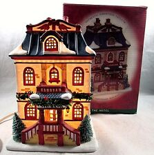 Vintage Authentic Christmas Valley Porcelain Lighted House The Hotel 1996