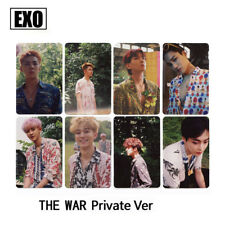8pcs/Set K-pop EXO The War Private Cards CHANYEOL CHEN XIMIN Self-made Photocard