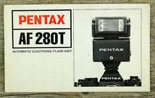 ASAHI PENTAX Bedienungsanleitung Blitzgerät AF 280T Manual IN ENGLISCH (X8037