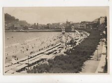 San Sebastian Playa y Paseo de la Concha Vintage RP Postcard 352b