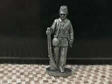 Vintage Miniature Metal Historical Soldier America Civil War Confederate Figure