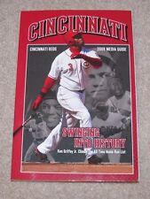 CINCINNATI REDS 2008 Media Guide Ken Griffey Jr.  Cover NEW