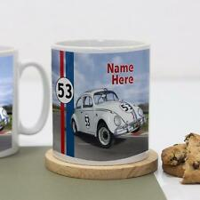 Personalised Herbie VW 1 Beetle Car Boys Girls Children's Mug White Cup Gift