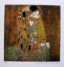 "GUSTAV KLIMT ""THE KISS"" Estate Signed Limited Edition Fine Art Giclee"