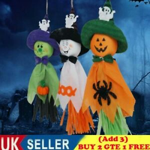 3pc Haunted Halloween Hanging Ghost Spooks Party Home Indoor Outdoor Decor Scary