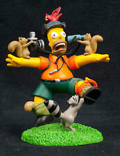 Simpsons Misadventures Homer One With Nature Hamilton Collection Sculpture