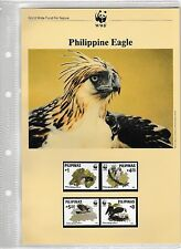 "WWF For Nature Stamp Collection 1991 ""Philippine Eagle"" FDC, PC and Stamps"