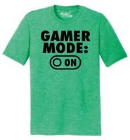 Mens Gamer Mode On Tri-Blend Tee Nerd Geek Graphic