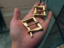 "Johnleather Craft Quick Release Solid Brass Firefighter Belt Buckle 1-1/4""(32mm)"
