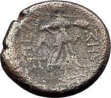 PELLA Macedonia Original 146BC Authentic Ancient Greek Coin PAN & ATHENA i62364