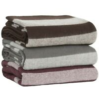 Twin Size Blanket Australian Merino Wool Soft and Warm 90 x 61 Inches