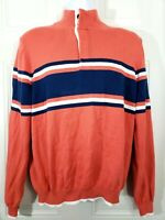 BROOKS BROTHERS 4 BUTTON OVERHEAD STRIPED SWEATER L SUPIMA COTTON MEN'S