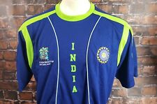 2007 World Cup Cricket Jersey Rugby Polo Team India Men Size Xl Blue/Green