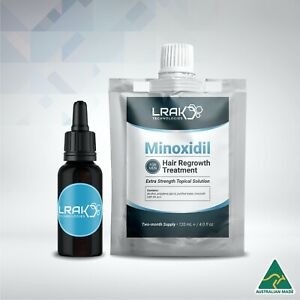 Minoxidil 5% Extra Strength Solution For Men   + Dropper Bottle   120 mL