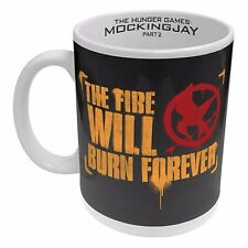 122891 FIRE WILL BURN HUNGER GAMES MOCKINGJAY PART 2 CERAMIC 330ml COFFEE MUG