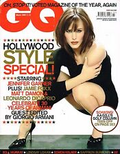 GQ UK March 2005 JENNIFER GARNER Giorgio Armani JAMIE FOXX Matt Damon U2 @VGC@