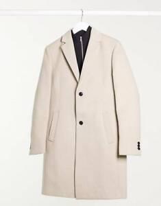 Topman Faux Wool Overcoat & Shacket - 2 Styles & Colours - Sizes: S, M, L, XL