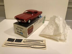1972 Plymouth Barracuda Promo MPC Factory Built Model Mint Box Rally Red Decals