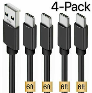 4 Pack OEM  Samsung USB C Cable Type C Fast Charger For Galaxy S8 S9 S10 Plus