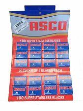 100 Asco Super Stainless double edge razor blades