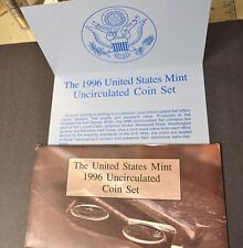 Replacement Envelope 1996 US Mint Uncir Set + COA, ENVELOPE ONLY NO COINS